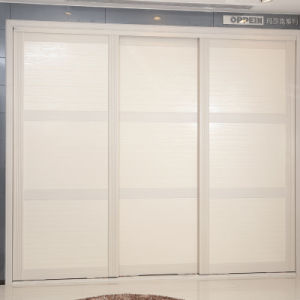 Oppein 3 Sliding Doors White Wardrobe Closet (YG21338)