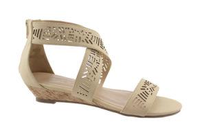 2016 Casual Leisure Ladies Flat Platform Wedge Sandals (LXD024-1 BEIGE)