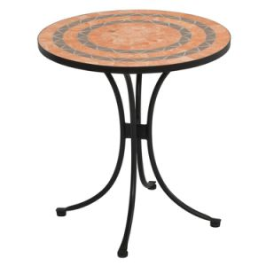 Well Furnir T-023 Outdoor&Indoor Home Styles Terra Cotta Mosaic 3 Piece Bistro Set Furniture pictures & photos