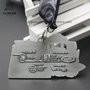 New Style Zinc Alloy Antique Metal Custom Running Marathon Medals with Ribbon (JIABO-JP1669) pictures & photos