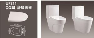UF Quick Release Plastic White Toilet Seats and Cover 811 pictures & photos