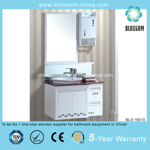 900*500mm White Color Lacquer Finish Bathroom Cabinet (BLS-16015) pictures & photos