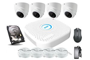 Outdoor 4CH 2MP 4MP CCTV Poe NVR DVR Kit with HDD pictures & photos