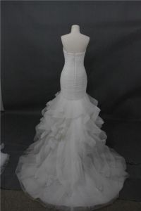 Strapless Meramid Ball Bridal Feather Wedding Dress pictures & photos