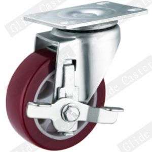 Medium Duty PU Swivel Caster (Red) (G3202) pictures & photos