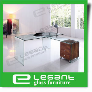 Simple Glass Table with Grey Hot Bending Glass pictures & photos