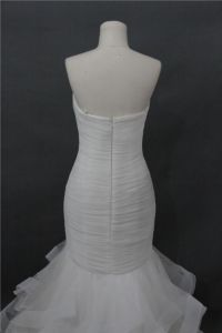 Strapless Mermaid Ball Bridal Feather Wedding Dress Bjmnls098 pictures & photos