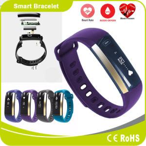 Blood Pressure Heart Rate Blood Oxygen Pedometer Sport Wristwatch Smart Bracelet pictures & photos