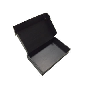 Wholesale Flat Folding Gift Brand Logo Packaging Black Box pictures & photos