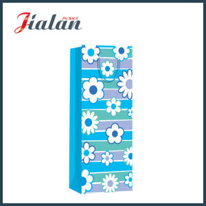 Promotion 4c Printed Wine Bottle Shopping Carrier Paper Gift Bags pictures & photos