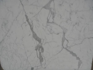 Chinese Snow Statuario White Marble Slab Floor Tile pictures & photos