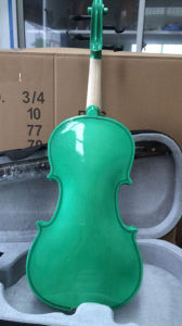 Violin Factory Green Colour Beginner Laminated Violin pictures & photos