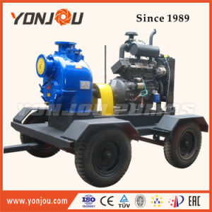 Pump Diesel Engine with Trailer/Diesel Self-Priming Non-Clogging Sewage Pump Set/Hose Pump/Water Pump Set pictures & photos
