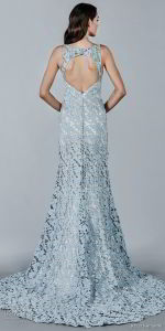 Blue Ivory Bridal Prom Party Dress Sleeveless Lace Wedding Evening Dress E15119 pictures & photos