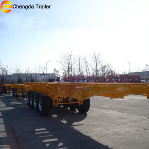 3 Axle 40FT Skeleton Container Semi Trailer for Sale pictures & photos