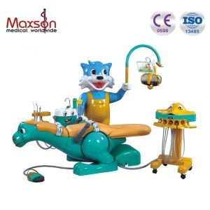 Rotating Cats Side Box with Built in Music Player Dental Chair for Children Use