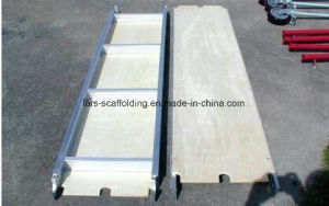 Aluminum Scaffolding Plywood Board/ Wooden Plank with Hook pictures & photos