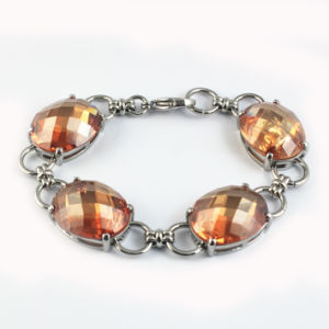 New Design CZ Stone Bridal Bracelets Jewelry pictures & photos
