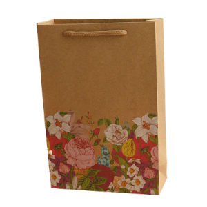 Promotional Custom Printed Brown Paper Gift Bags with High Quality pictures & photos