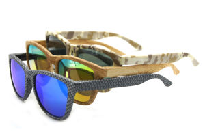 Colorful Wood Color Plastic Frame Unisex Fashion Sunglasses pictures & photos