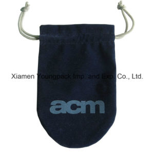 Promotional Custom Grey Soft Microfiber Cloth Drawstring Glasses Bag pictures & photos