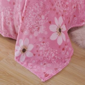 Japan Sakura Flower Cute design Soft Plush Mink Blanket on Bed for Girl Room pictures & photos