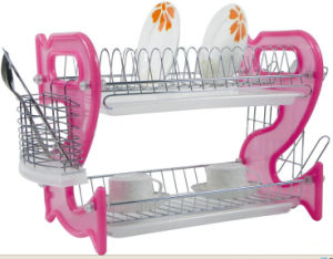 2 Layers Metal Wire Kitchen Dish Rack Plastic Board No. Dr16-Bp03 pictures & photos