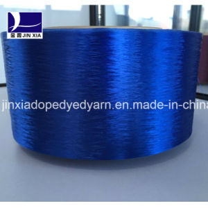 FDY Ployester Yarn 300d/192f Fine Denier Filament Yarn Dope Dyed pictures & photos