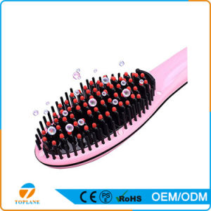 Ce Certificated Hair Straightener with LCD Ceramic Brush for Straightening Hair pictures & photos