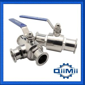 Sanitary, Stainless Steel, Clamp End, SUS304, Tee Type, Manual, Ball Valve pictures & photos