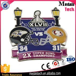 Promotional Nice Fake Enamel Champion Theme Lapel Pin pictures & photos