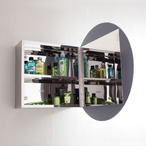 New Design Wall Mounted Bathroom Mirror Cabinet 7021 pictures & photos