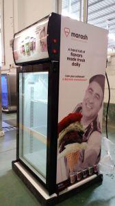 Three Layer Glass Door Commercial Vertical Display Ice Cream Glass Door Freezer pictures & photos