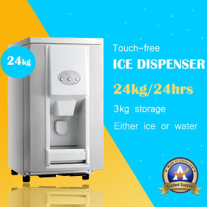 Ice and Water Ice Dispensers with Stainless Steel Design (25kg a day) pictures & photos