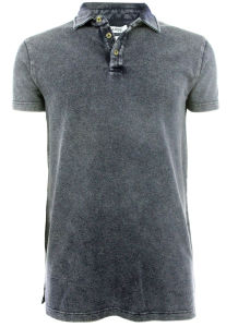 Men New Design Knitting Denim Washing Polo Shirts Top Clothing (EE170502) pictures & photos
