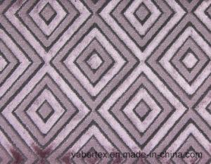 Woven Cut Velvet Sofa Textile Upholstery Polyester Fabric
