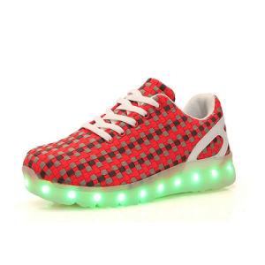 Light Emitting LED PU Kids Sports LED Shoes pictures & photos