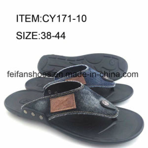 Comfortable Men Shoes Casual Slippers Customized Flip Flop (FFCY0412-01) pictures & photos