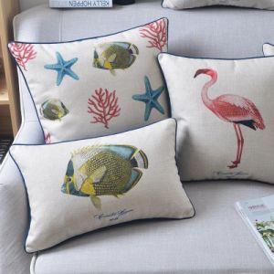 Reasonable Cotton Linen Throw and Pillow Sets for Sofas Decorating pictures & photos