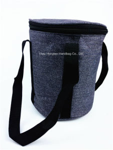 High-Grade EPE Aluminium Film with 600d Jean Cylindrical Coolerbag pictures & photos