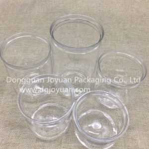Clear Plastic Pet Can with Aluminum Eoe and Plastic Cover pictures & photos
