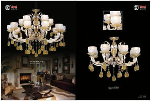 Hot Sale Golden Colored Glaze Chandelier Light pictures & photos