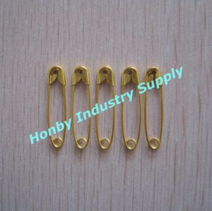 Fresh Stock Gold Color 28mm Standard Lockable Safety Pin