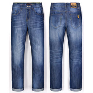 Wholesale Men Basic Jeans Cotton Blue Denim Jeans pictures & photos
