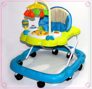 Blue and White Children Foldable Baby Walker pictures & photos