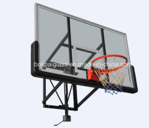 Height Adjustable Wall Mounting Glass Basketball Stands, Basketball Hoops pictures & photos