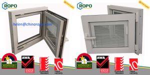 PVC Sound Insulation Double Glazed Windows, High Energy-Efficient Tilt Turn Windows pictures & photos