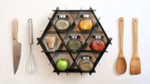 Multifuctional Home Cabinet Kitchen Rack with Organizer Bottle Display pictures & photos