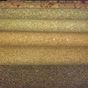 Real Cork PU Synthetic Leather Fabric for Decoration (HS-BC08) pictures & photos