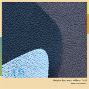 Embossed Car Seat PVC Leather Material pictures & photos